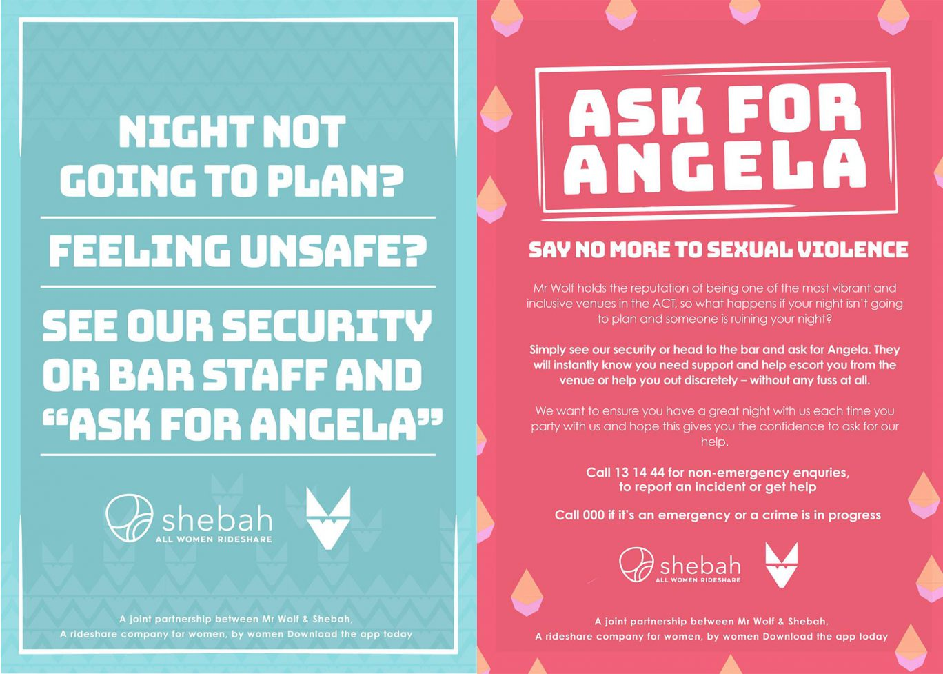 Ask for Angela - Patron Safety Campaign