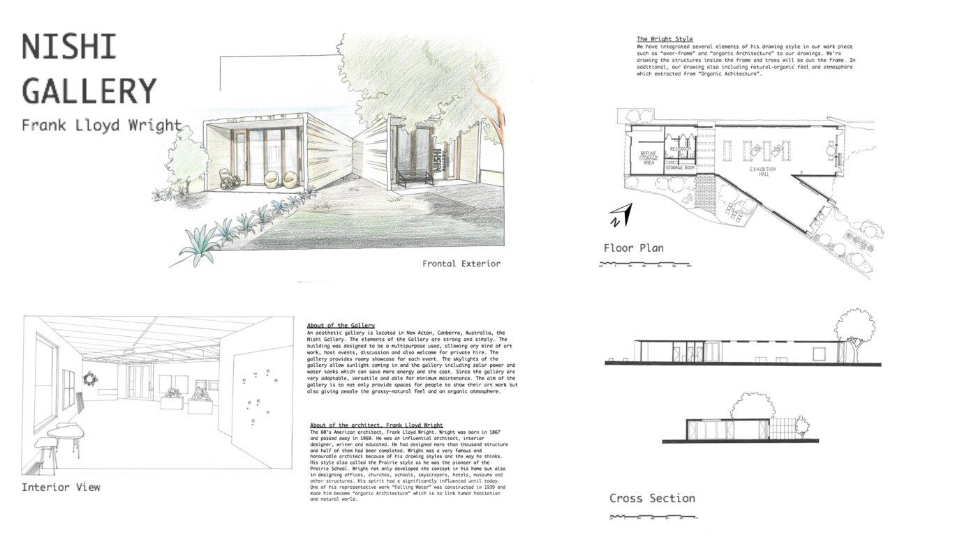 Nishi Gallery - Frank Lloyd Wright Style
