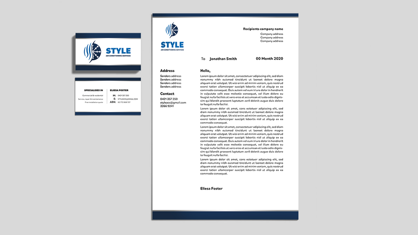 Style Air Conditioning Services Brand Design